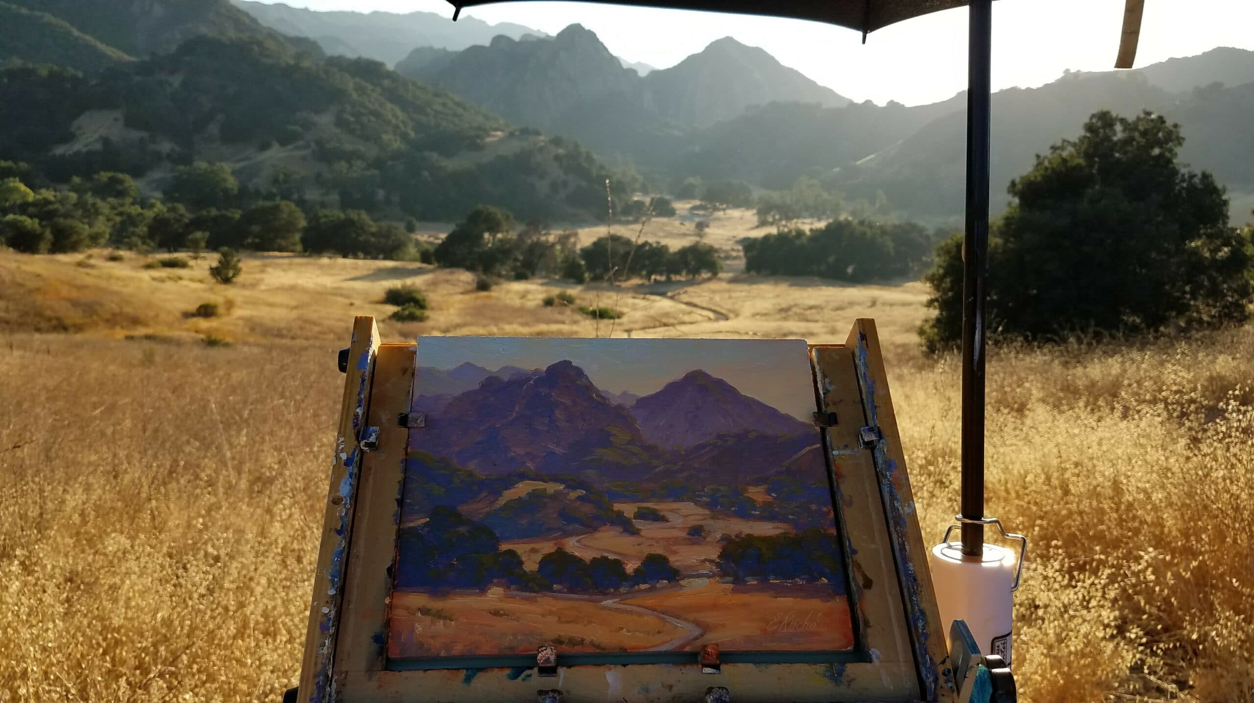 5 Best Places for En Plein Air Painting near Los Angeles, Topanga Canyon Inn